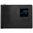 Siskiyou Buckle FBCW170 Carolina Panthers Leather Bill Clip Wallet