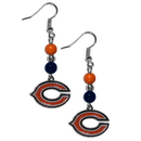 Siskiyou Buckle FBDE005 Chicago Bears Fan Bead Dangle Earrings