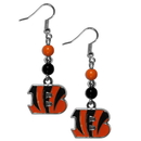 Siskiyou Buckle FBDE010 Cincinnati Bengals Fan Bead Dangle Earrings