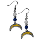 Siskiyou Buckle FBDE040 San Diego Chargers Fan Bead Dangle Earrings