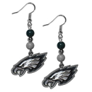 Siskiyou Buckle FBDE065 Philadelphia Eagles Fan Bead Dangle Earrings