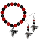 Siskiyou Buckle Atlanta Falcons Fan Bead Earrings and Bracelet Set, FBDE070BB