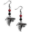 Siskiyou Buckle FBDE070 Atlanta Falcons Fan Bead Dangle Earrings