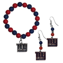 Siskiyou Buckle New York Giants Fan Bead Earrings and Bracelet Set, FBDE090BB