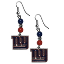 Siskiyou Buckle FBDE090 New York Giants Fan Bead Dangle Earrings