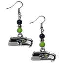 Siskiyou Buckle FBDE155 Seattle Seahawks Fan Bead Dangle Earrings