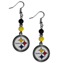 Siskiyou Buckle FBDE160 Pittsburgh Steelers Fan Bead Dangle Earrings