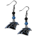 Siskiyou Buckle FBDE170 Carolina Panthers Fan Bead Dangle Earrings