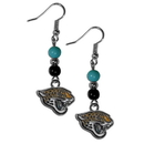 Siskiyou Buckle FBDE175 Jacksonville Jaguars Fan Bead Dangle Earrings