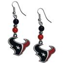 Siskiyou Buckle FBDE190 Houston Texans Fan Bead Dangle Earrings