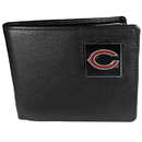 Siskiyou Buckle FBI005 Chicago Bears Leather Bi-fold Wallet Packaged in Gift Box