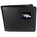 Siskiyou Buckle FBI020 Denver Broncos Leather Bi-fold Wallet Packaged in Gift Box