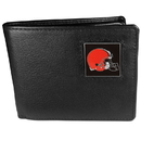 Siskiyou Buckle FBI025 Cleveland Browns Leather Bi-fold Wallet Packaged in Gift Box