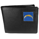 Siskiyou Buckle FBI040 San Diego Chargers Leather Bi-fold Wallet Packaged in Gift Box