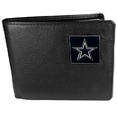 Siskiyou Buckle FBI055 Dallas Cowboys Leather Bi-fold Wallet Packaged in Gift Box