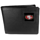 Siskiyou Buckle FBI075 San Francisco 49ers Leather Bi-fold Wallet Packaged in Gift Box