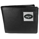 Siskiyou Buckle FBI100 New York Jets Leather Bi-fold Wallet Packaged in Gift Box