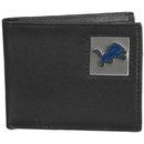 Siskiyou Buckle FBI105 Detroit Lions Leather Bi-fold Wallet Packaged in Gift Box