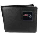 Siskiyou Buckle FBI120 New England Patriots Leather Bi-fold Wallet Packaged in Gift Box