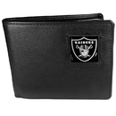 Siskiyou Buckle FBI125 Oakland Raiders Leather Bi-fold Wallet Packaged in Gift Box