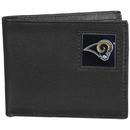 Siskiyou Buckle FBI130 St. Louis Rams Leather Bi-fold Wallet Packaged in Gift Box