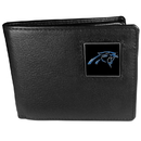 Siskiyou Buckle FBI170 Carolina Panthers Leather Bi-fold Wallet Packaged in Gift Box