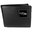 Siskiyou Buckle FBI180 Baltimore Ravens Leather Bi-fold Wallet Packaged in Gift Box