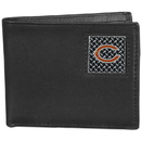 Siskiyou Buckle FBID005 Chicago Bears Gridiron Leather Bi-fold Wallet Packaged in Gift Box