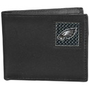 Siskiyou Buckle FBID065 Philadelphia Eagles Gridiron Leather Bi-fold Wallet Packaged in Gift Box
