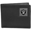 Siskiyou Buckle FBID125BX Oakland Raiders Gridiron Leather Bi-fold Wallet