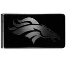 Siskiyou Buckle Denver Broncos Black and Steel Money Clip, FBKM020