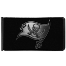 Siskiyou Buckle Tampa Bay Buccaneers Black and Steel Money Clip, FBKM030
