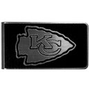 Siskiyou Buckle Kansas City Chiefs Black and Steel Money Clip, FBKM045