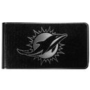 Siskiyou Buckle Miami Dolphins Black and Steel Money Clip, FBKM060