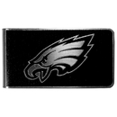 Siskiyou Buckle Philadelphia Eagles Black and Steel Money Clip, FBKM065