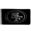Siskiyou Buckle San Francisco 49ers Black and Steel Money Clip, FBKM075