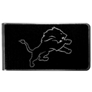 Siskiyou Buckle Detroit Lions Black and Steel Money Clip, FBKM105
