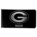 Siskiyou Buckle Green Bay Packers Black and Steel Money Clip, FBKM115