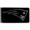 Siskiyou Buckle New England Patriots Black and Steel Money Clip, FBKM120