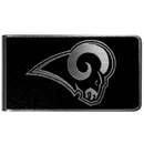 Siskiyou Buckle Los Angeles Rams Black and Steel Money Clip, FBKM130