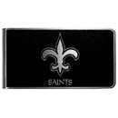 Siskiyou Buckle New Orleans Saints Black and Steel Money Clip, FBKM150