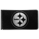 Siskiyou Buckle Pittsburgh Steelers Black and Steel Money Clip, FBKM160