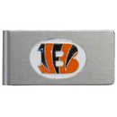 Siskiyou Buckle FBMC010 Cincinnati Bengals Brushed Metal Money Clip