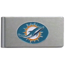 Siskiyou Buckle FBMC060 Miami Dolphins Brushed Metal Money Clip