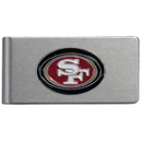 Siskiyou Buckle FBMC075 San Francisco 49ers Brushed Metal Money Clip