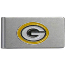 Siskiyou Buckle FBMC115 Green Bay Packers Brushed Metal Money Clip