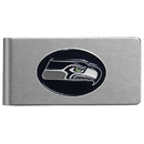 Siskiyou Buckle FBMC155 Seattle Seahawks Brushed Metal Money Clip