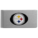 Siskiyou Buckle FBMC160 Pittsburgh Steelers Brushed Metal Money Clip