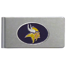 Siskiyou Buckle FBMC165 Minnesota Vikings Brushed Metal Money Clip