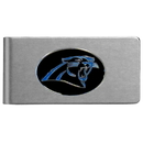 Siskiyou Buckle FBMC170 Carolina Panthers Brushed Metal Money Clip